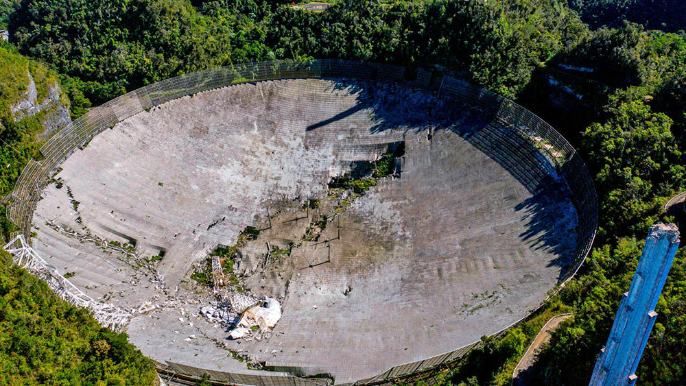 Arecibo Telescope - After Collapse