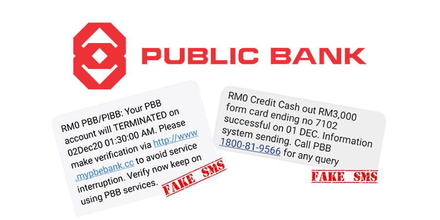 Public Bank : More Fake SMS Scams! Do NOT Click / Call!
