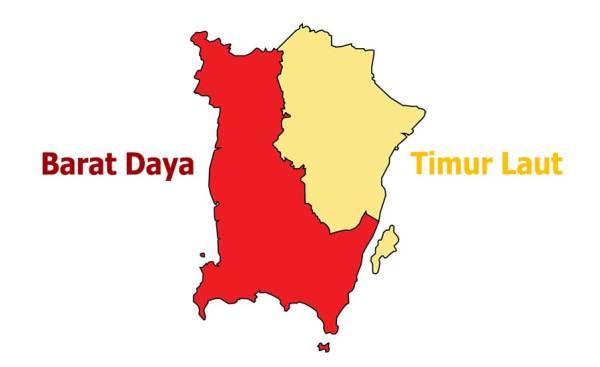 Penang island districts