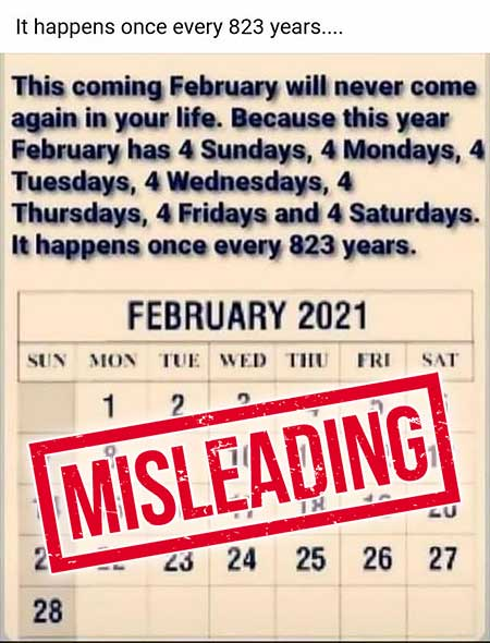 Fact Check : This February Happens Once Every 823 Years!