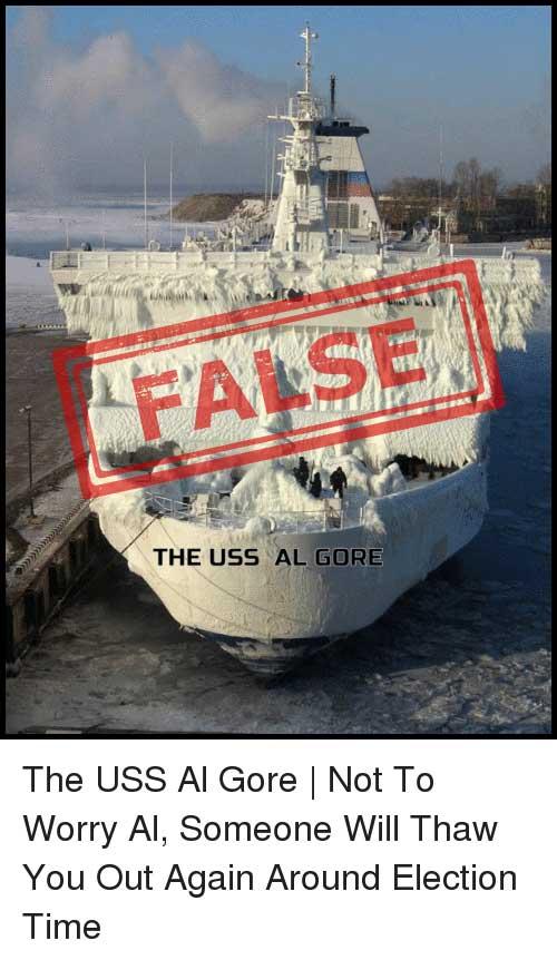 USS Al Gore Global Warming Research Vessel Frozen In Ice?