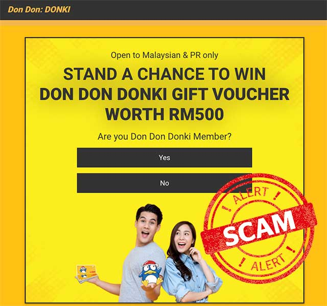 Scam Alert : Fake DON DON DONKI Giveaway!