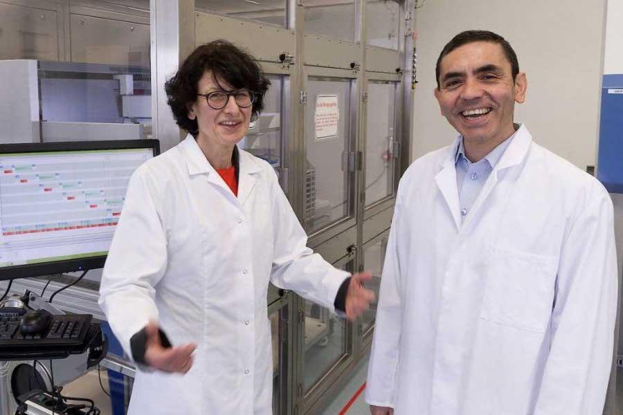 Ugur Sahin and Ozlem Tureci who created the Pfizer vaccine