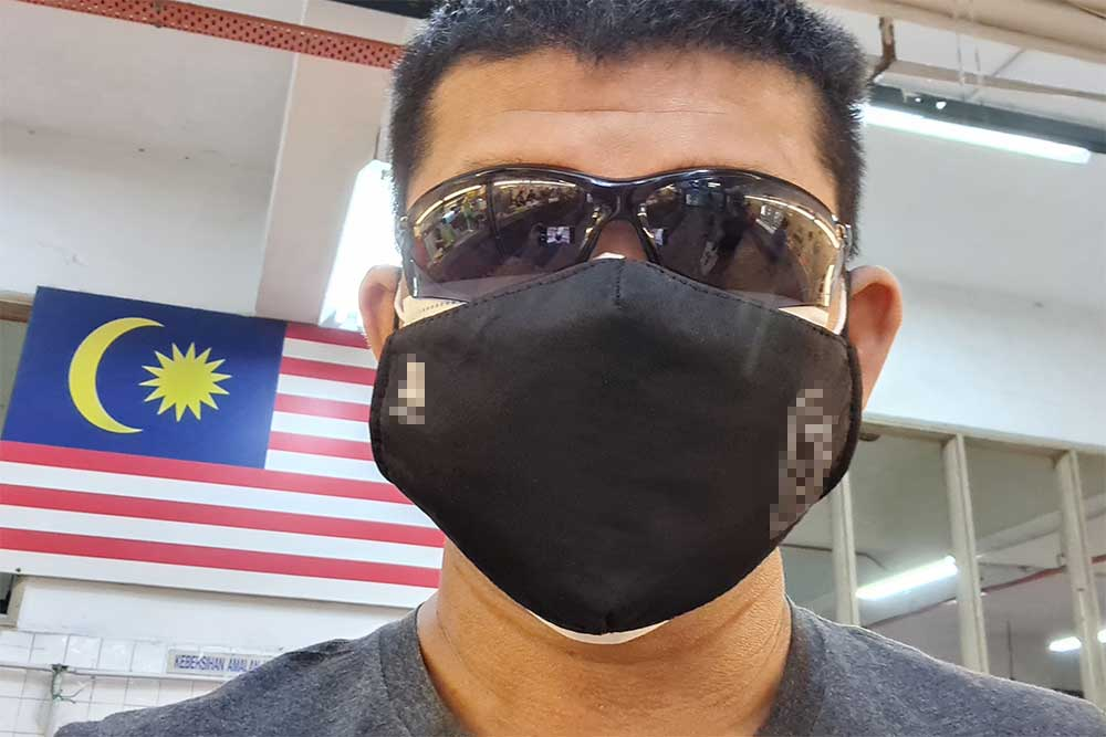 Double face mask full