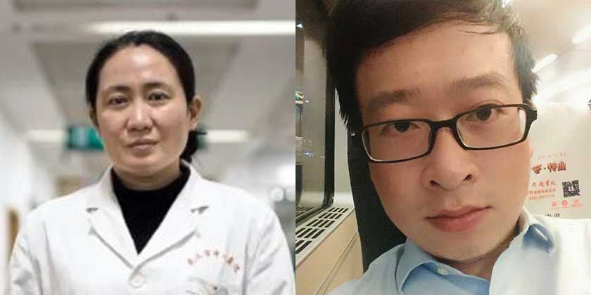 Dr Ai Fen and Dr Li Wenliang