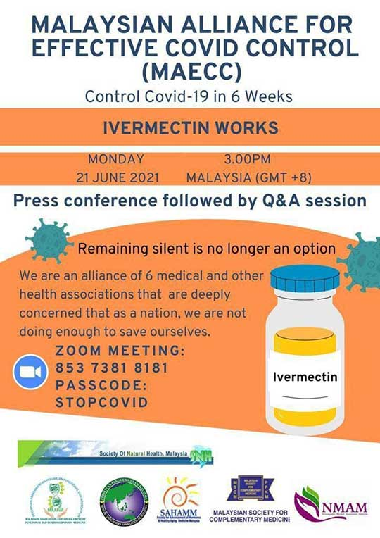 MAECC Ivermectin Briefing : Control COVID-19 In 6 Weeks?
