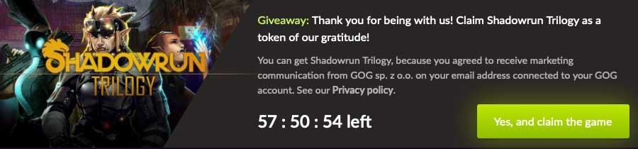 Shadowrun Trilogy free games banner