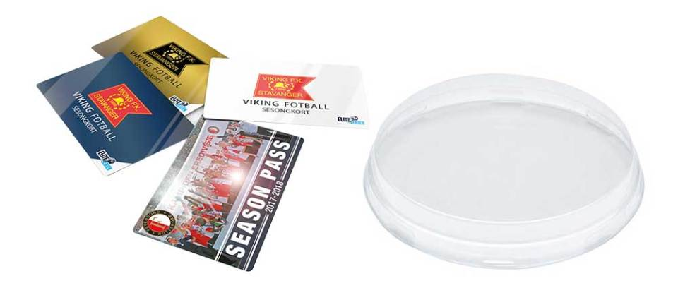 Plastic cards and lid