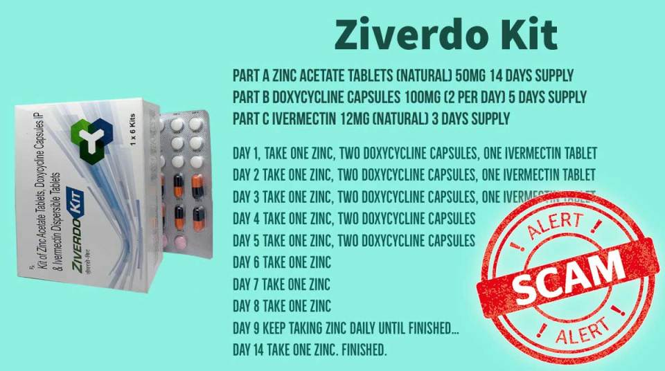 Scam Alert : Ziverdo Kit Against COVID-19
