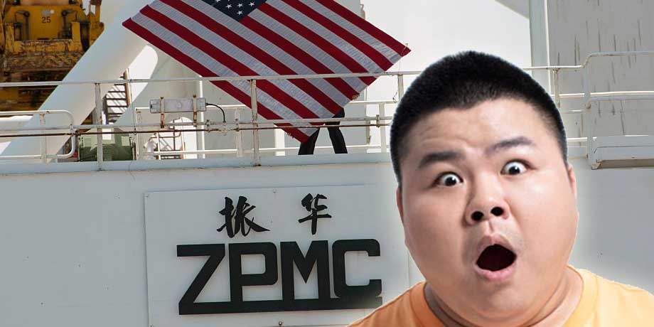 Did America Hide Logo Of New Chinese Cranes With US Flag?
