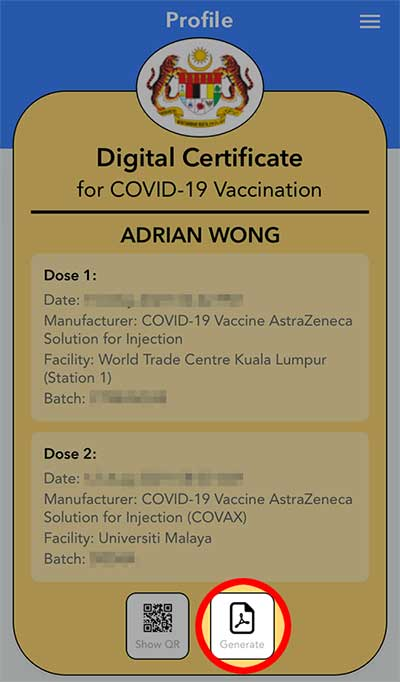 COVID-19 Vaccine Certificate : How To Get PDF + Print!