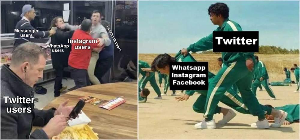 Twitter vs Facebook down memes