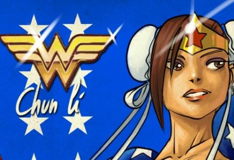 Wonder Woman Chun Li - Janski Beeeats - TechArtGeek