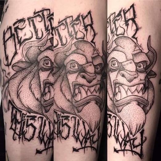 Callum Forster geek best of tattoo belle bete disney