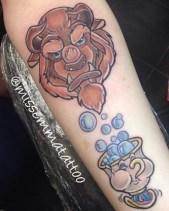 Emma Fillingham geek best of tattoo belle bete disney