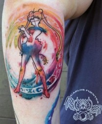 Carlos Fuentes geek best of tattoo sailor moon