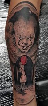Brian Tipping best of tattoo it ca pennywise clown horror movie float