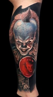 GOÑAS ART best of tattoo it ca pennywise clown horror movie float