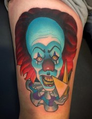 Marty McEwen best of tattoo it ca pennywise clown horror movie float