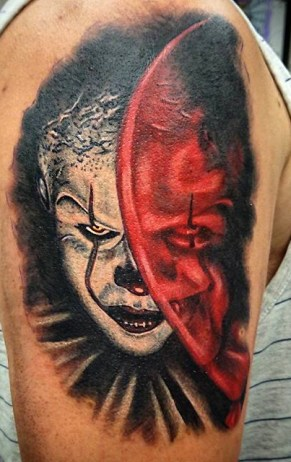 Lars Vegas Christoffersen best of tattoo it ca pennywise clown horror movie float