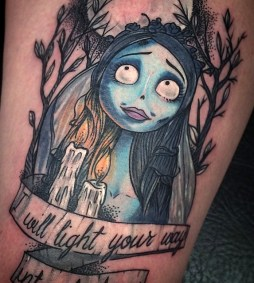 David Sheldon best of tattoo corpse bride tim burton