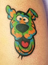 Madison Hodges geek peau best of tattoo scoobydoo