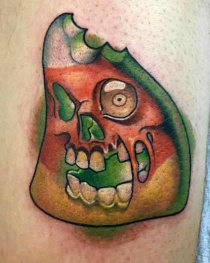 John Guzman halloween geek corn candy best of tattoo