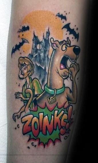 Unknown geek peau best of tattoo scoobydoo