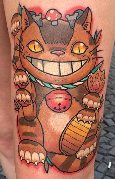 Rose of No Mans Land Berlin best of tattoo totoro chat bus catbus neko miyazaki