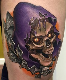 Aaron Springs Geek Best of Tattoo He Man Skeletor