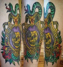 Laura Casey Geek Best of Tattoo He Man Skeletor