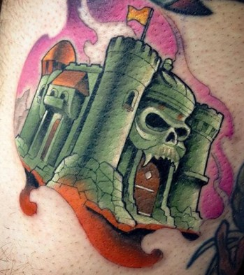 Corey Schoermer Geek Best of Tattoo He Man Skeletor