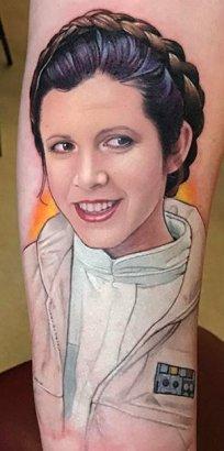 David Corden best of tattoo star wars leia