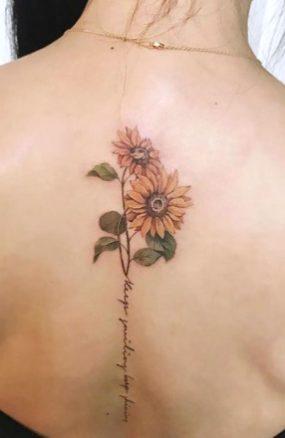 Sunflower tattoos ideas for women (12)
