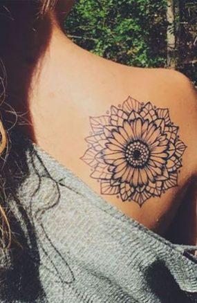 Sunflower tattoos ideas for women (18)