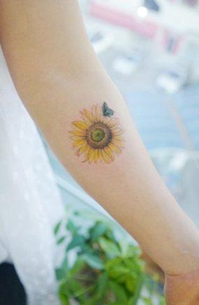 Sunflower tattoos ideas for women (21)
