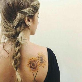 Sunflower tattoos ideas for women (3)