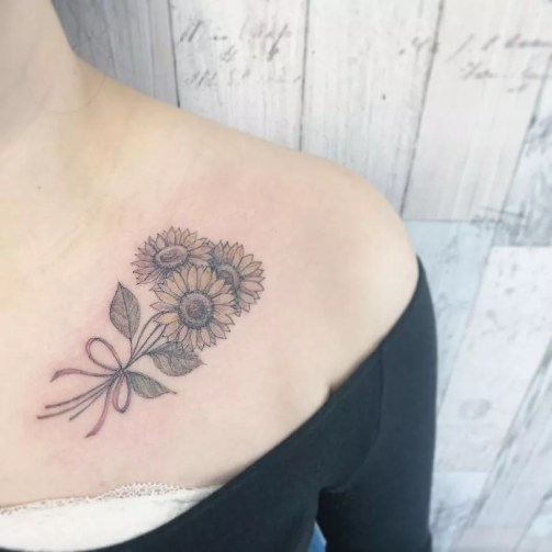Sunflower tattoos ideas for women (30)