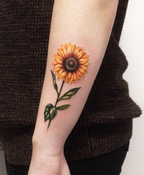 Sunflower tattoos ideas for women (34)