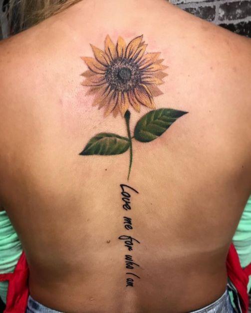 Sunflower tattoos ideas for women (37)