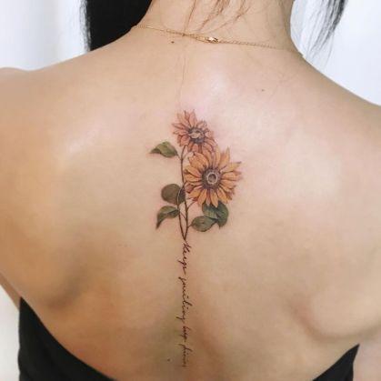 Sunflower tattoos ideas for women (41)