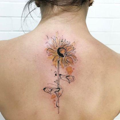 Sunflower tattoos ideas for women (44)