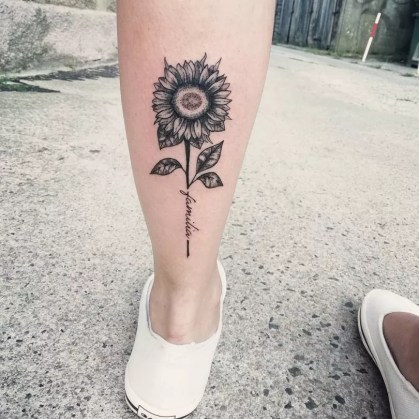 Sunflower tattoos ideas for women (48)