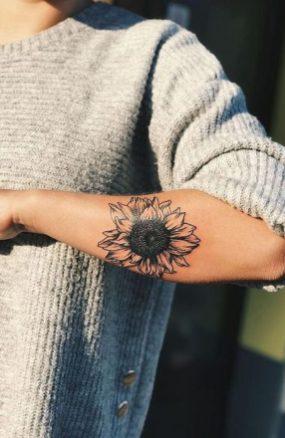 Sunflower tattoos ideas for women (8)