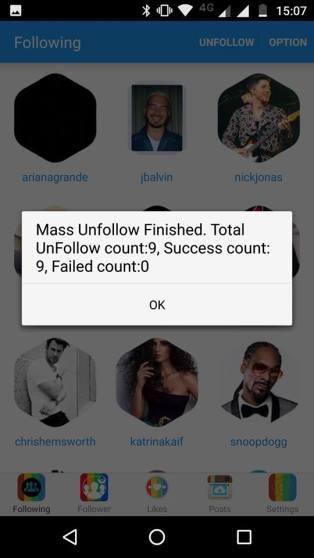 instagram unfollow all