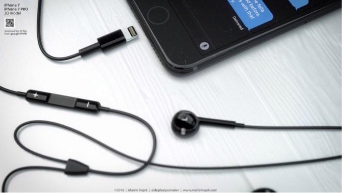 iPhone 7 Lighting Connector EarPods Black Color