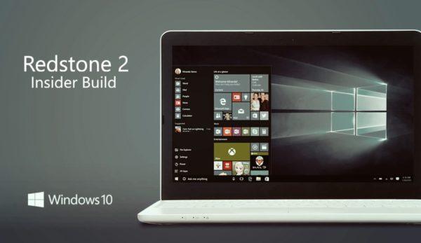 Windows Redstone 2 Preview build