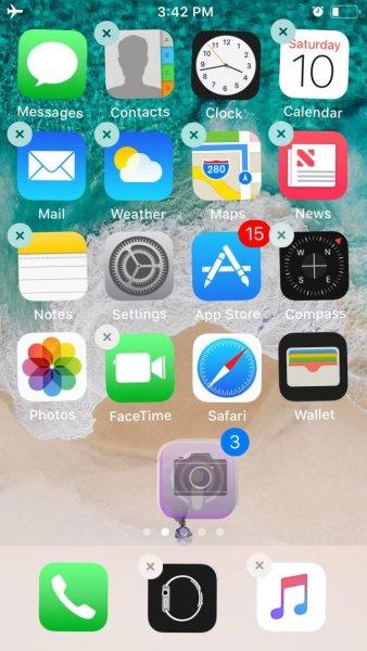 iOS 11 Multi Select Apps