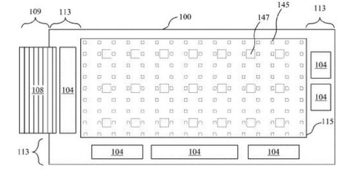 Apple Micro LED Patent Diagram