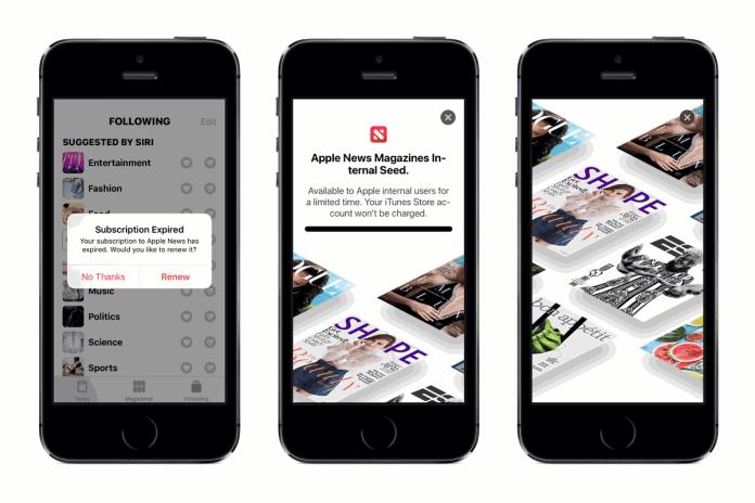 Apple News Subscription